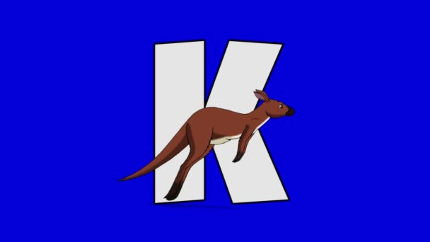 Letter K and  Kangaroo  (foreground)