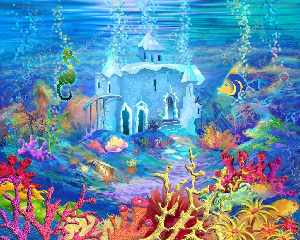 картинки подводного царства морского царя работу