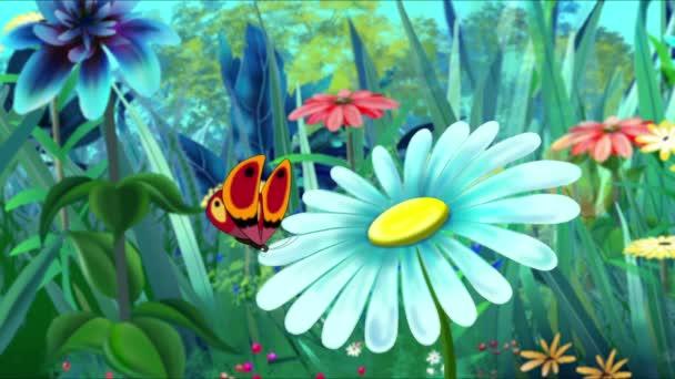 piros pillangó és virág