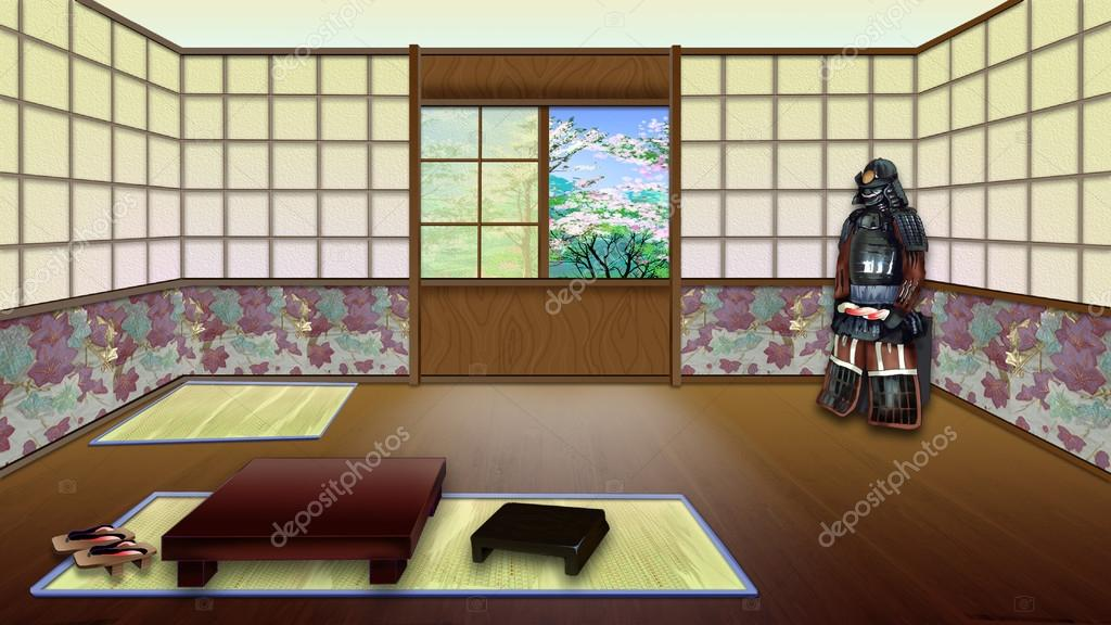 Traditionele japanse kamer interieur stockfoto zarevv for Japanse stijl interieur