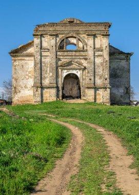 Abandoned Catholic church of the Assumption of the Blessed Virgin Mary in Kamenka village, Odessa region, Ukraine