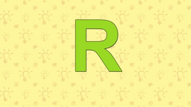Raccoon. English ZOO Alphabet - letter R