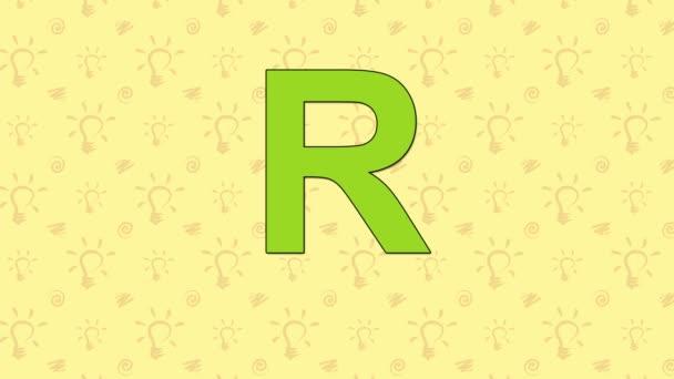 Mýval. Anglická abeceda Zoo - písmeno R