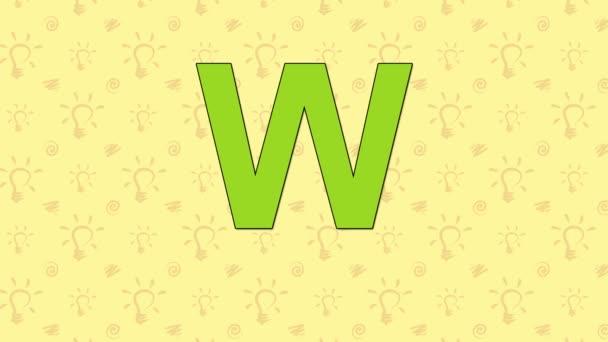 Woodpecker. English ZOO Alphabet - letter W