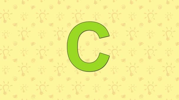 Gepard. Anglická abeceda Zoo - písmeno C