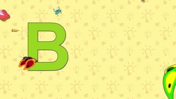 Butterfly. English ZOO Alphabet - letter B