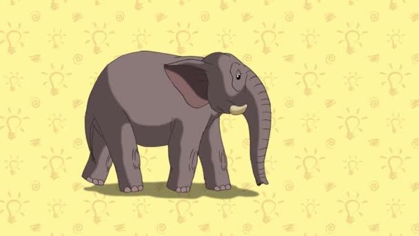 Elephant. English ZOO Alphabet - letter E