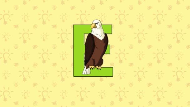 Orel. Anglická abeceda Zoo - písmeno E