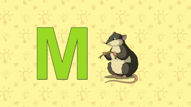 Myš. Anglická abeceda Zoo - písmeno M