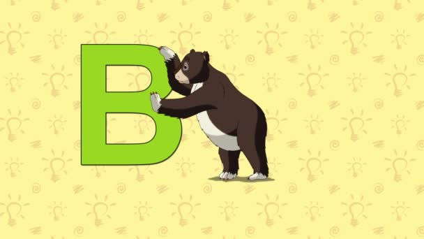 Bear. English ZOO Alphabet - letter B