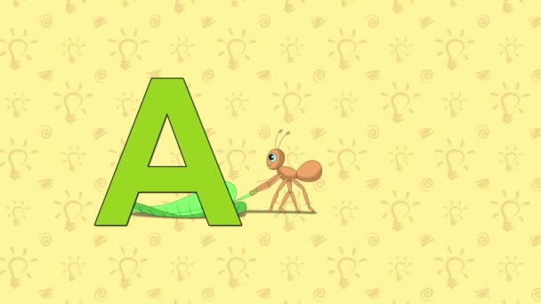 Ant. English ZOO Alphabet - letter A
