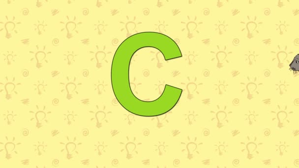 Cat. English ZOO Alphabet - letter C