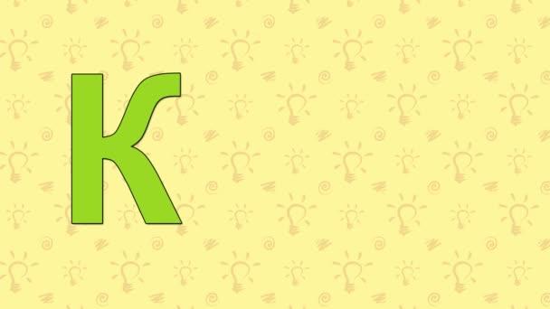 Kangaroo. English ZOO Alphabet - letter K