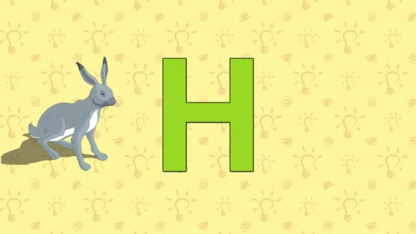 Hare. English ZOO Alphabet - letter H