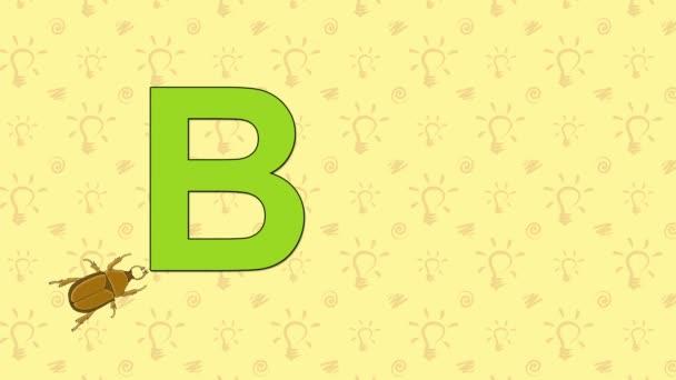 Brouk. Anglická abeceda Zoo - písmeno B
