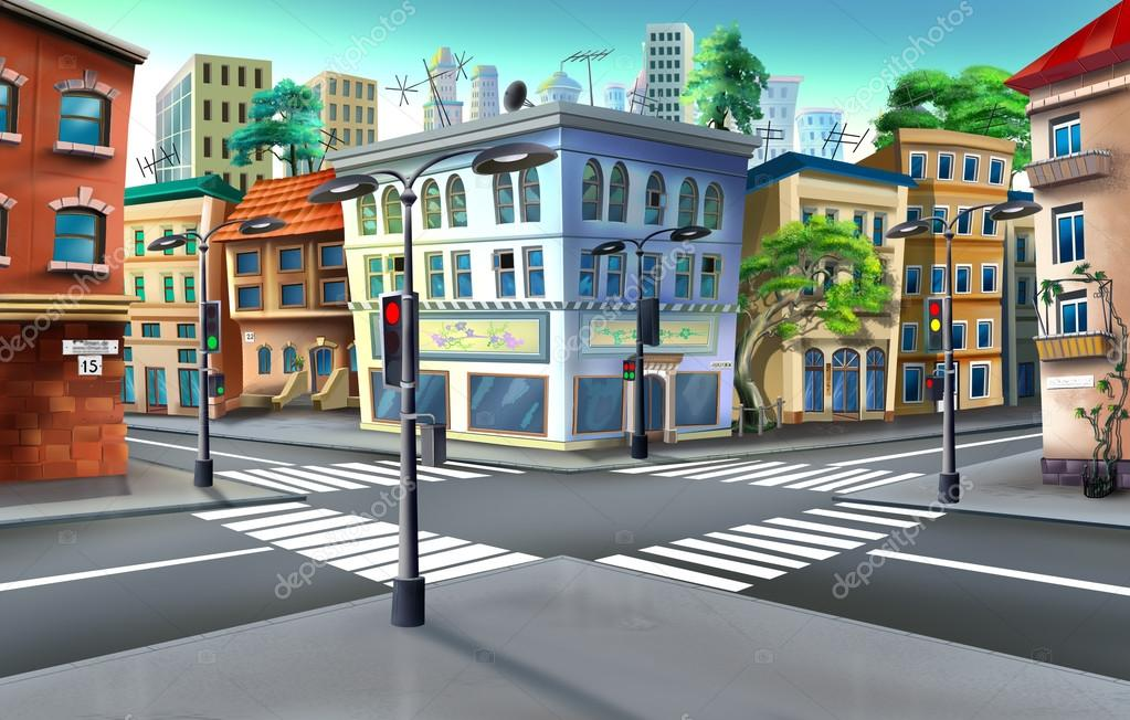 Картинки для детей перекресток без машин