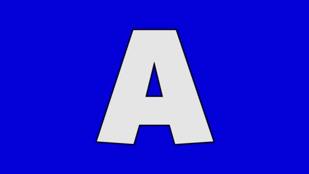 Letter A and Alligator (background)