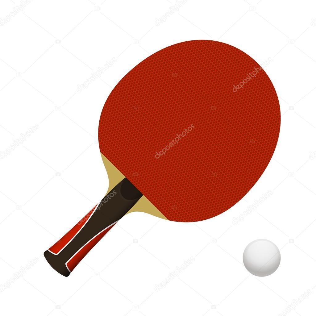 26038bb40 Mesa de ping-pong raquete com bola — Vetores de Stock © Mochipet ...