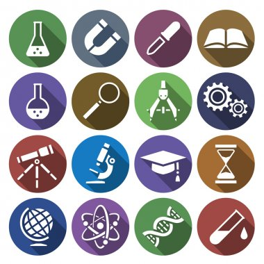 Icon of scientific tools in flat design