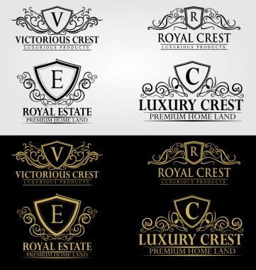 Heraldic Crest Logos and Badges Vol 3