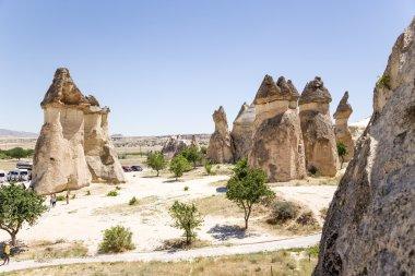 Cappadocia, Turkey. Mushroom-shaped pillars of weathering Pashabag Valley (Valley of the Monks)
