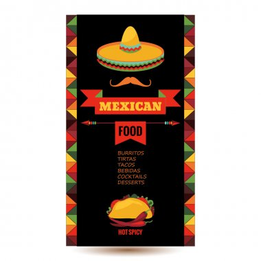 Design template for Mexican restaurant
