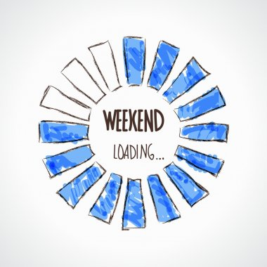Weekend loading illustration