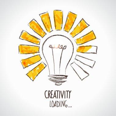 Design of progress bar, loading creativity stock vector
