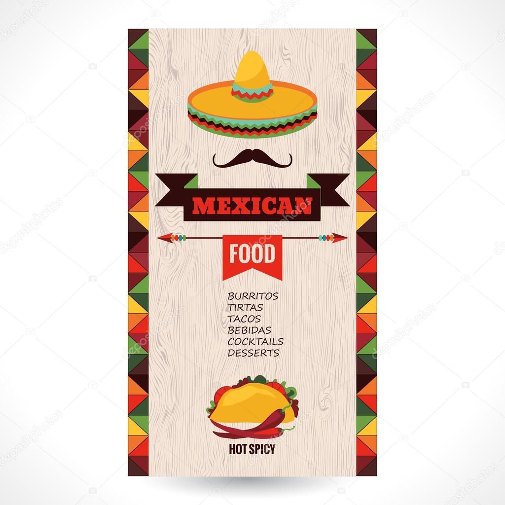 Plantilla de diseño para restaurante mexicano — Archivo Imágenes ...