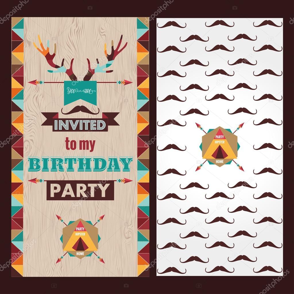 Invitación Tarjeta De Feliz Cumpleaños Vector De Stock