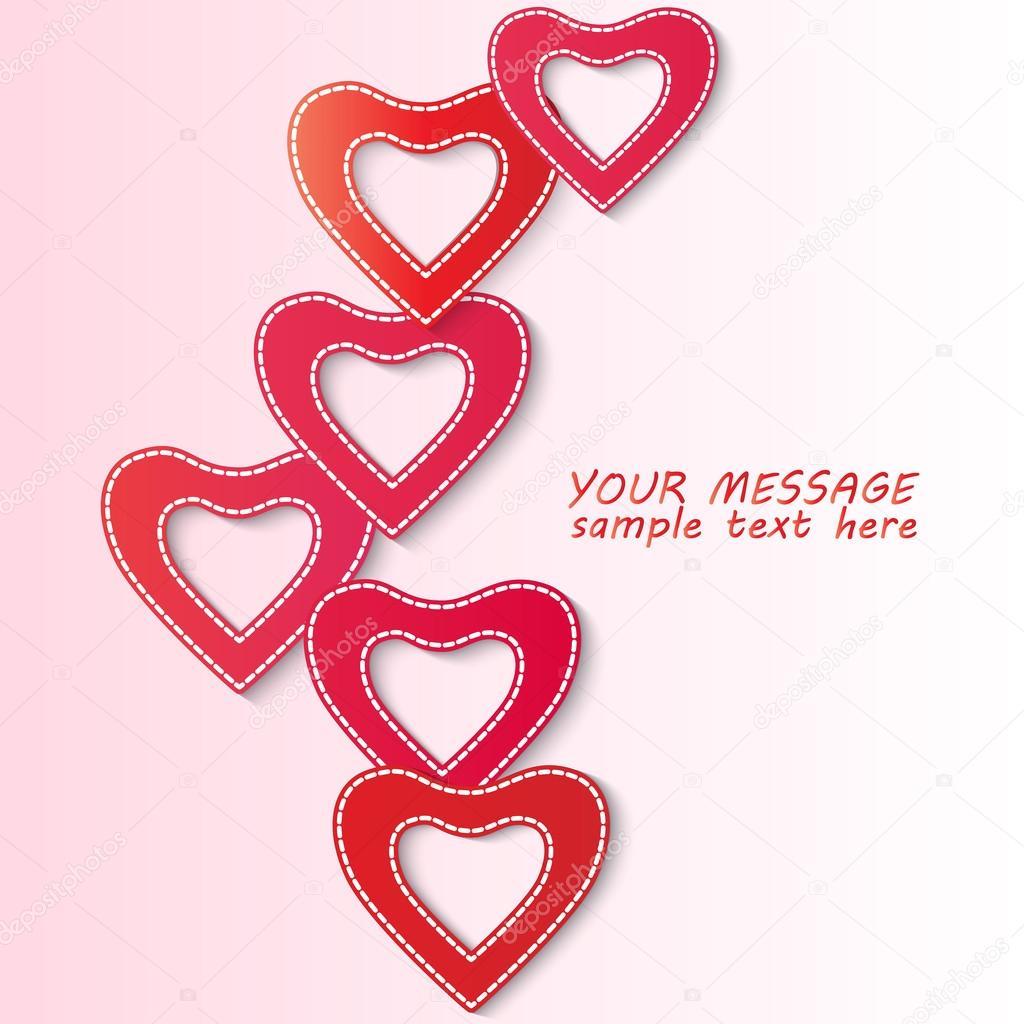 Valentine Day Flyer Background Stock Vector C Tatkuptsova 76263759