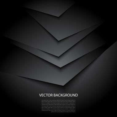 Black abstract vector background with shadows stock vector