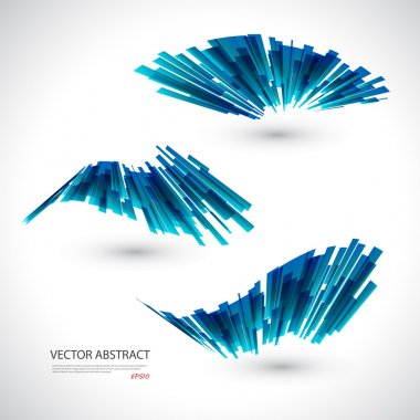Abstract blue waves template