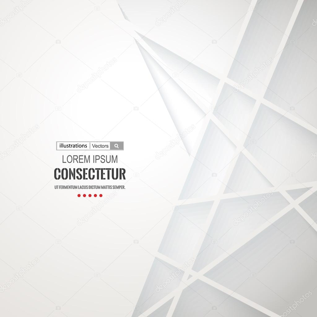 Abstract geometric white background with polygons