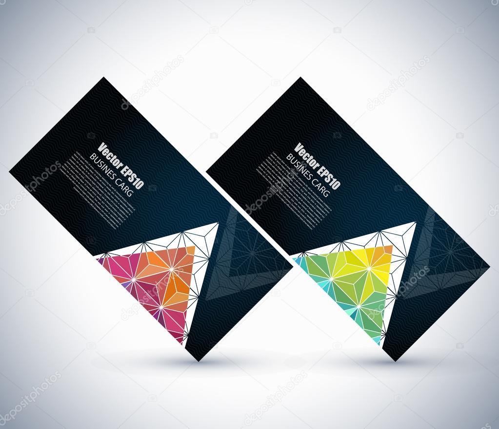 Business cards templates with triangles vetores de stock business cards templates with triangles vetores de stock reheart Gallery