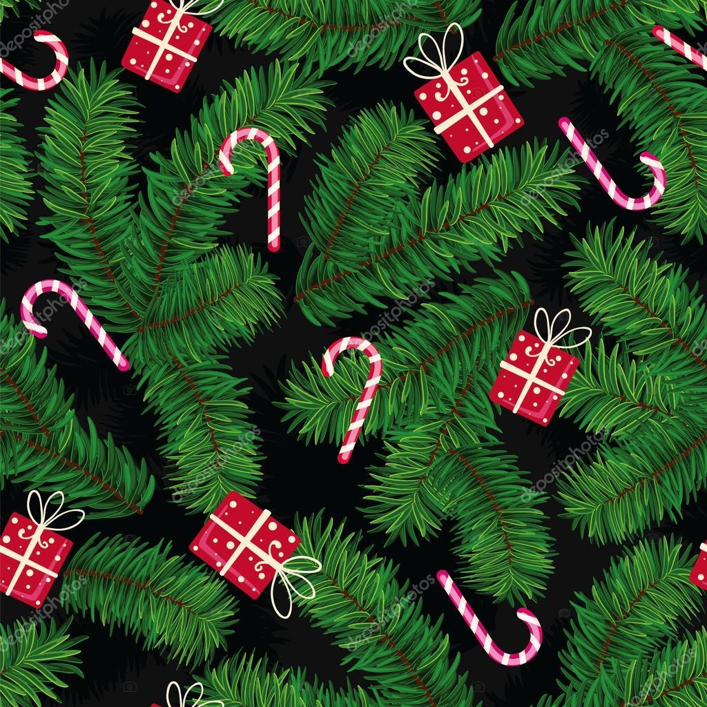 Hergestellt aus Tanne Äste, Geschenke und Süßigkeiten Weihnachten ...