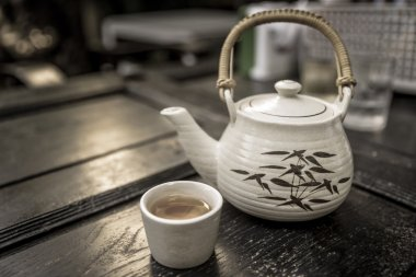 Set of Chinese tea on the table