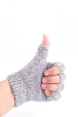 Hand in Glove showing the thumb up sign
