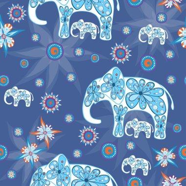 Illustration of cute elephants