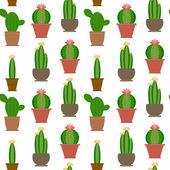 Bezešvé kaktus ilustrace
