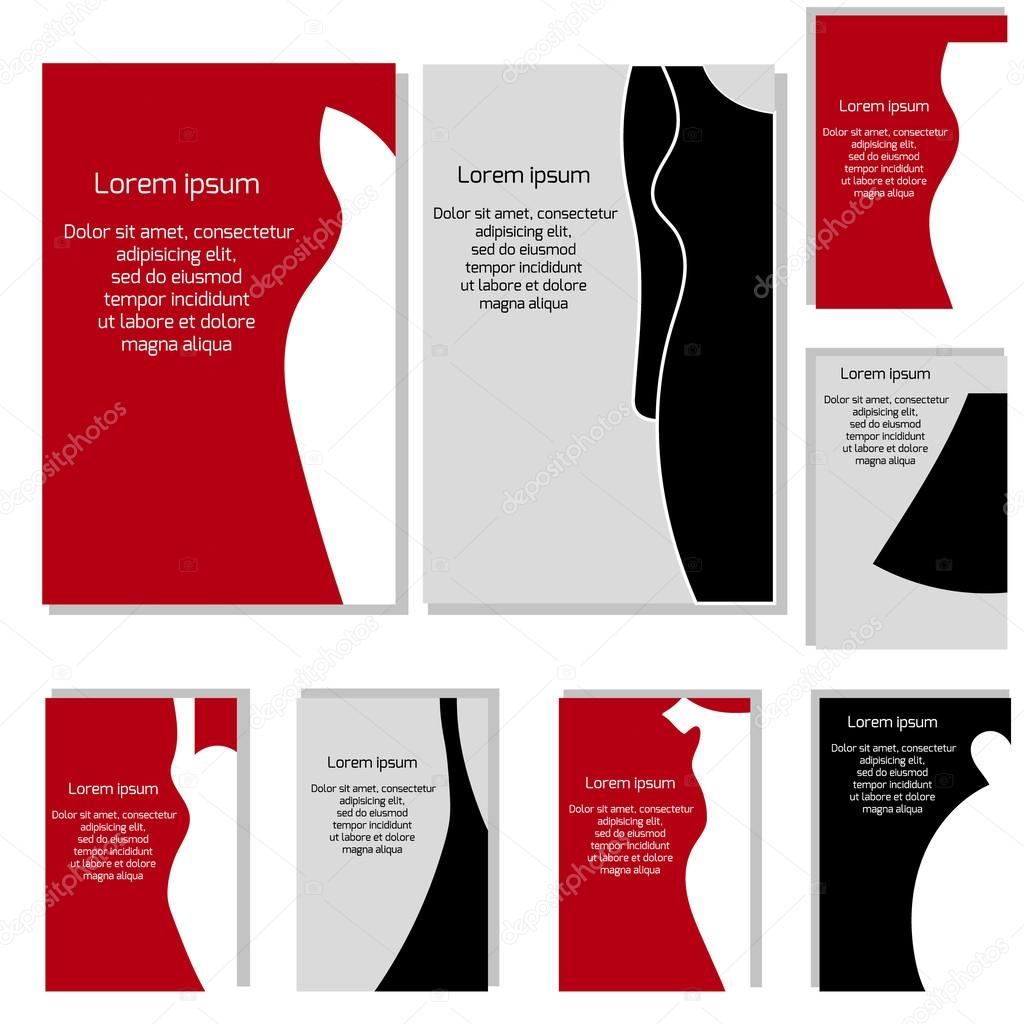 Vektor Set Mit Verschiedenen Mode Visitenkarten