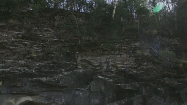 The mountain river Prut and waterfalls in Yaremche, Carpathians, Ukraine