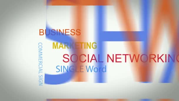 Social network word tag cloud animation