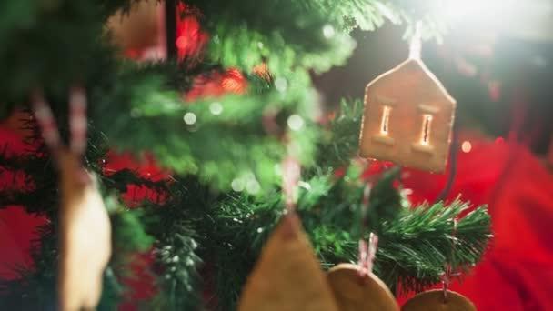 hračky se soubory cookie na vánoční stromeček
