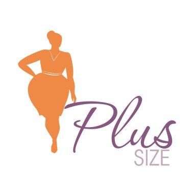 Plus size woman icon