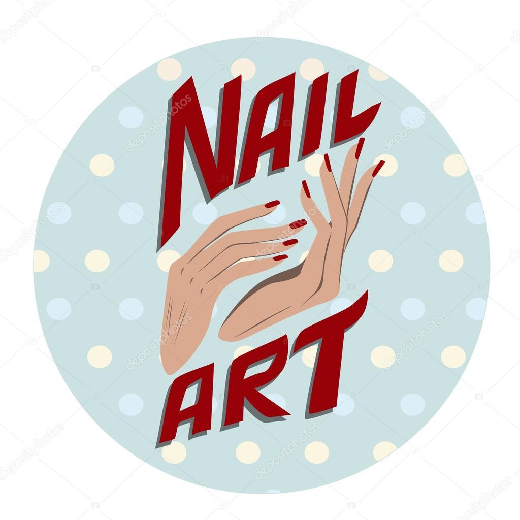 Nagel kunst label — Stockvector © aliona3333 #69309111