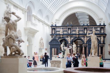LONDON, UK - AUGUST 24, 2014:  Victoria and Albert Museum. V&A Museum is the world's largest museum of decorative arts and design.