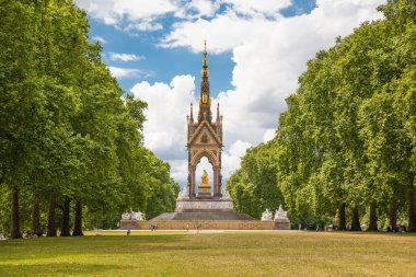 LONDON, UK - AUGUST 11, 2014: Prince Albert memorial in Hyde park.