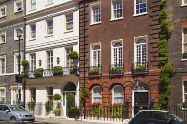 LONDON, UK - JUNE 3, 2014: Mayfair town houses, center of London