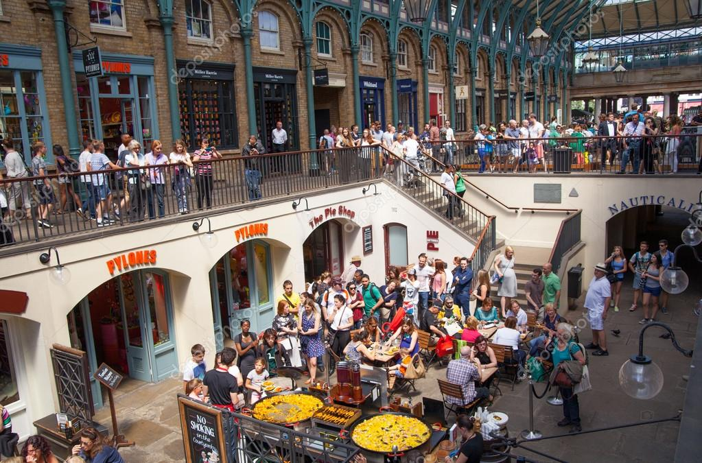 Paella In Covent Garden Market One Of The Main Tourist Attractions In London Known As Restaurants Pubs Market Stalls Shops And Public Entertaining Stock Editorial Photo C Irstone 56860851